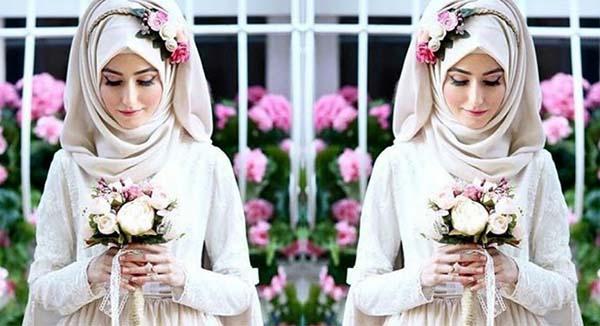aksesoris kerudung pengantin